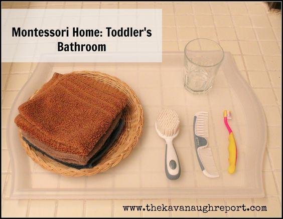 montessori home: toddlers bathroom